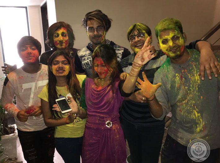 Indore PFAMES Celebrating Holi