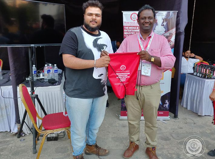 PFAMES Faculty Paul Sir given Price winner student